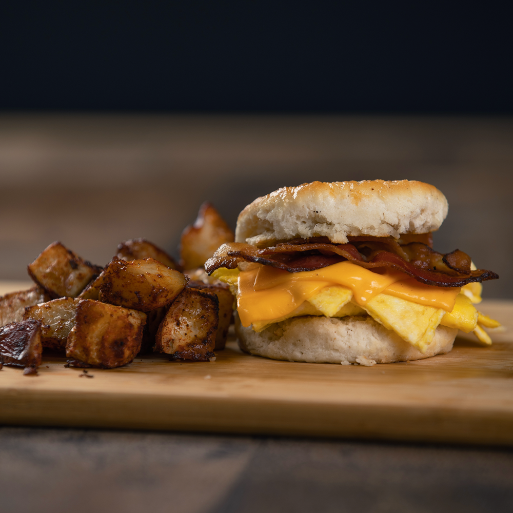 Bacon (or Sausage) Egg & Cheese Biscuit